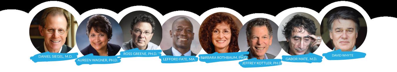 Lowcountry Mental Health Conference Speaker Lineup for 2017! Dan Siegel, Aureen Wagner, Ross Greene, Lefford Fate, Barbara Rothbaum, Jeffrey Kottler, Gabor Mate and David Whyte!